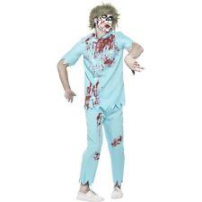 Men's Bloody Zombie Dentist Costume Fancy Dress Halloween Horror Medium 38-40