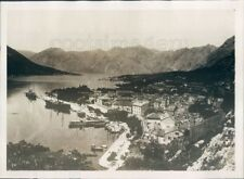 1929 Press Photo Cattaro Kotor 1920s Montenegro Adriatic Coast