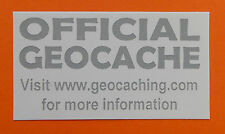 3 x Cache stickers for Geocaching gray print on white sticker