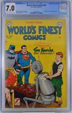 World's Finest #49 CGC 7.0 Batman Superman 1951 2nd Highest Graded Copy