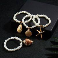 Boho Summer Beach Sea Shell Bracelet Women Bracelet Handmade Pearl Jewelry Gift
