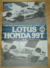 Tamiya original manual for 58068 Lotus Honda 99T NEW from dealer binder