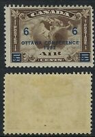 Canada Scott C4: Ottawa Conference 6c Overprint on 5c Mercury, F-LH