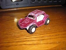 "RARE Vintage 1/43 ? 3 1/8"" Long Tootsie Toy Dune Buggy Hot Rod Dark Pink"