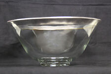 "Dorothy Thorpe Roly Poly Serving Bowl - Wide Silver Band 8""H"