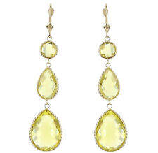 14K Yellow Gold Earrings With Multi Shaped Lemon Topaz Gemstones