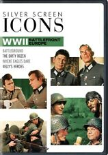 Silver Screen Icons: World War II Battlefront Europe (DVD,2017)