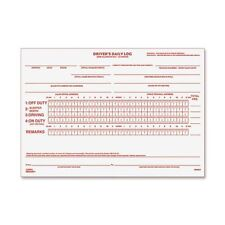 Rediform Driver's Daily Log Book - 31 Sheet[s] - Stapled - 2 Part - Carbonized -
