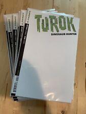 Turok dinosaur Hunter #1 Dynamite Comics 2014 Blank Book Sketch variant NM mint