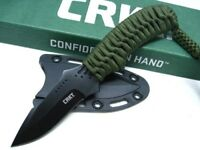 Columbia River CRKT 2032 Cord Wrapped Thunder Strike Fixed Neck Knife + Sheath