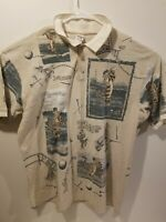 disney store tigger mens golf shirt all over print  size 2XL vintage