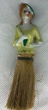 Unique Vintage Porcelain Half Doll Whisk Broom Clothes Brush Female