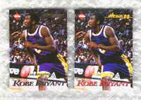 😇 KOBE BRYANT 1996-97 ROOKIE CARD RC 2 CARD LOT VARIATION RARE EDGE LAKERS ❗️❗️