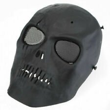 Black Paintball Airsoft Sport Mask Skull Tactical Mask Protective Gear Full Face