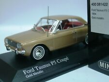 WOW EXTREMELY RARE Ford Taunus P5 20m V6 Coupe 1964 Gold m 1:43 Minichamps-GT/RS