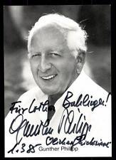 Gunther Philipp Autogrammkarte Original Signiert # BC 49682