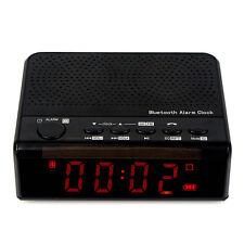 Bluetooth Speaker FM Radio Alarm Clock MP3 Player Phone Call 2000mA Battery CO