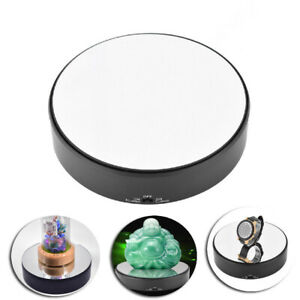 Mirror Surface 360° Rotary Display Stand Adjustable Speed Turntable Jewelry PT