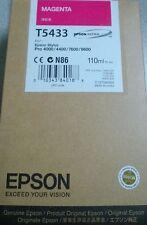 Epson Stylus ProT5433 UltraChrome Magenta Ink 4000/4400/7600/9600 110ml 7/2016