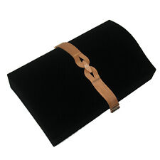 Black Velvet Bracelet Jewelry Display Holder Contour Padded Showcase Stand Ramp
