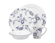 16pc Corelle PROVENCAL Dinnerware Set/ BLUE French Floral /Plates Bowls Mugs NEW