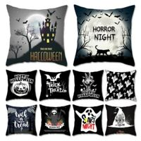 Halloween Ghost Witch Pumpkin Cushion Cover Skull Throw Pillow Case Home Decor