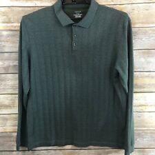 Van Heusen Men's Long Sleeves Cotton Blend Green Casual Shirt Size Extra Large