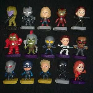 Marvel Avengers Endgame McDonalds Happy Meal Toy Lot Collectible Heroes Figures