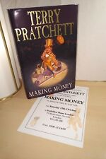Terry Pratchett SIGNED Making Money 1st edition 3rd print Hardback Discworld UK
