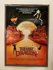 THE LAST DRAGON rare CBS-Fox VHS VIDEO POSTER Motown martial arts movie Bruce Le