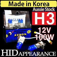H3 Headlight Bulbs Globes Xenon HID 12V 100W Car Driving Crystal Vision White