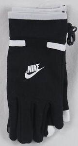 Nike Jungen Swoosh Touch Handschuhe Schwarz Weiß Größe 8/20 Nwt