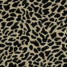 Chenille Animal Skin African Safari ONYX BLACK Home Decor Upholstery Fabric BTY