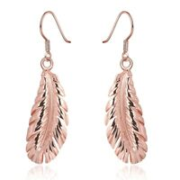 Rose Gold Feather Earrings