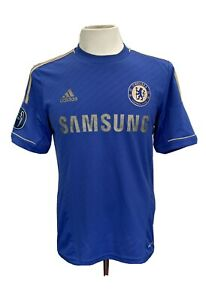Chelsea FC Football Shirt 2012 Home Champions of Europe No 12 UK Size Medium