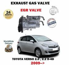 FOR TOYOTA VERSO 2.0 2.2 D4D 1AD-FTV 2AD-FHV 2009 > NEW EGR EXHAUST GAS VALVE