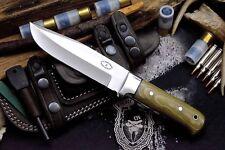 CFK Custom Handmade D2 Bushcraft Hunter Blade Camp Knife & Horizontal Sheath Set