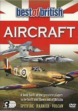 BEST OF BRITISH AIRCRAFT - 3 DVD BOX SET - SPITFIRE, HARRIER & VULCAN