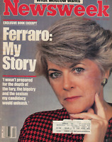Newsweek Magazine October 7, 1985 Geraldine Ferraro My Story