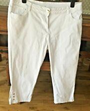 Cropped White Denim Jeans Size 16