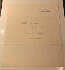 Original WW2 Autograph, General Sir Miles Dempsey on Second Army Letterhead
