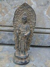 bouddha avec une arche en bronze pat antique sur un socle ...