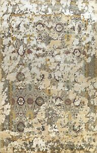 Vegetable Dye Abstract Oriental Area Rug Wool/ Silk Hand-knotted Over Size 12x16