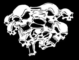 high detail airbrush stencil ghost skull FREE UK POSTAGE