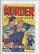 MURDER INCORPORATED COMICS #5, JUNE 1950, DECENT EYE APPEAL .