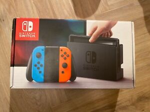 *UNPATCHED* *XAJ7* Nintendo Switch Neon Red/Neon Blue Console