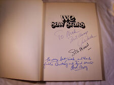 STAN MUSIAL / JACK BUCK / BOB BROEG SIGNED AUTOGRAPHED WE SAW STARS BOOK (T22)