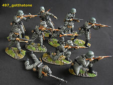 AIRFIX/TSSD 1/32 painted German ss infantry WW2. professionally painted x 10
