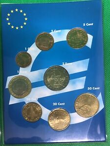 Pochette Série Euro Complète Slovenie 2007 1ere Emission Neuve, Lot de 8 Pieces