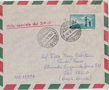 ITALY 1958 SPECIAL FLIGHT ALITALIA ITALY -BRASIL VISIT PRESIDENT AIRMAIL COVER